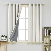 Deconovo Full Blackout Curtains Sound Reduction Room Darkening Curtains ... - $40.06