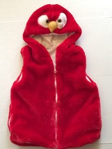 Child's Owl Head Red Fur Sleeveless Hoodie Size Small Halloween Costume New - $7.70