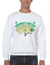 Men's Crewneck Sweatshirt Saint Patrick's Day Drunk O Meter Irish Shirt - $22.00