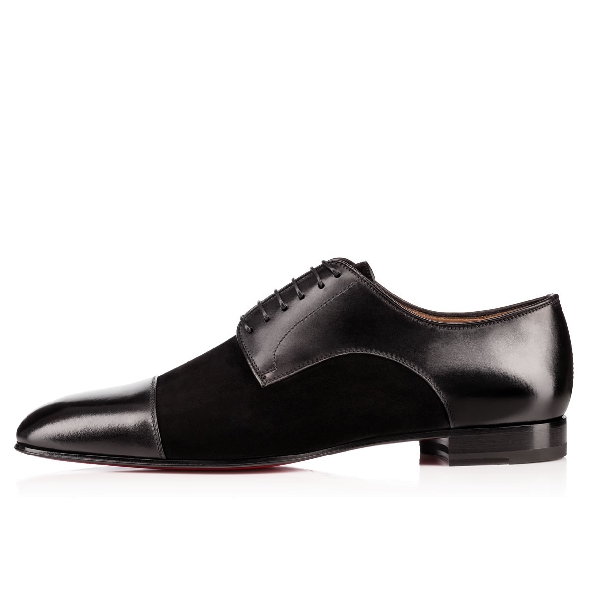 Handmade Men's Black Two Tone Leather And Suede Oxford Shoes