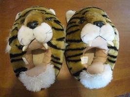 ani-mate house novelty slippers (M) 7-9 TIGERS fuzzy plush vintage adult... - $49.47