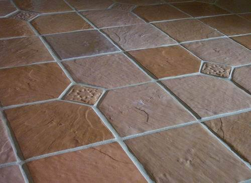 Six 12x12 Dot-Cut Slate Molds to Make 100s of Cement Floor Tiles For $0.30 Each
