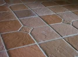 Six 12x12 Dot-Cut Slate Molds to Make 100s of Cement Floor Tiles For $0.30 Each image 1