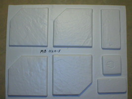 Six 12x12 Dot-Cut Slate Molds to Make 100s of Cement Floor Tiles For $0.30 Each image 2