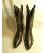 Laredo Men's Black Western Cowboy Leather Boots SZ 8.5D Made in the USA - $69.98