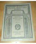 MUSIC MASTERY SERIES-2nd Grade Studies for Piano~1917 - $19.76