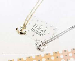 Anchor Pendant Necklace In Gold / Silver(925 Sterling Silver / brass) - $11.50+