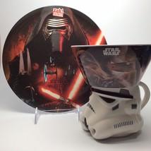 Star Wars Episode 7 Plate & Bowl Set Includes A Ceramic Mug - $16.96