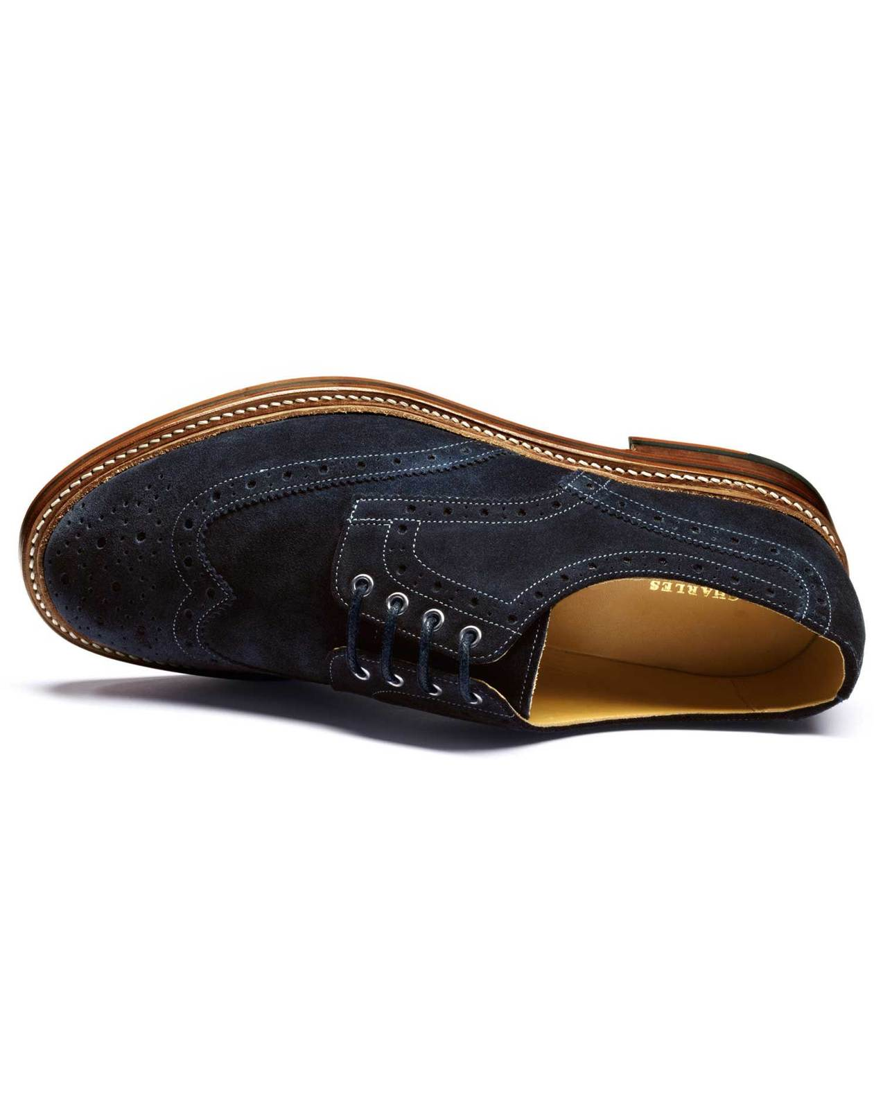 Handmade mens Navy good year Welted sole suede leather shoes, Men formal shoes