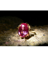 SIRIN DARK RUSSIAN DEMON UNLIMITED POWER Estate Ruby Gold Ring izida hau... - $9,990.00
