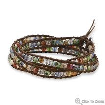 Fashion Wraps leather crystal stone Bracelet Choice image 3