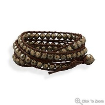 Fashion Wraps leather crystal stone Bracelet Choice image 2