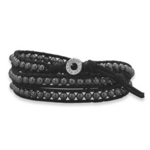 Fashion Wraps leather crystal stone Bracelet Choice image 4