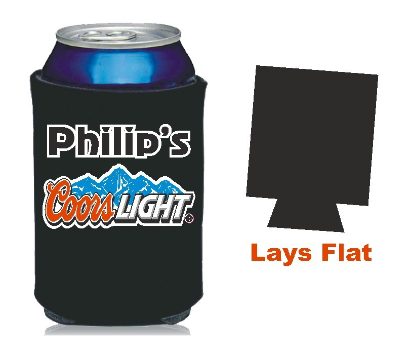 Beer Can Cooler ~ Coors light beer can koozie personalized