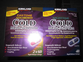 Daytime Nighttime Cold & Flu  Multi-Symptom 168 Caplets Kirkland - $13.22