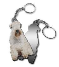 MIRRORED ACRYLIC WHEATEN TERRIER KEYCHAIN DOG KEYRING MadeinUSA KEY CHAI... - $5.98