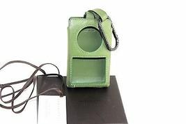 Auth Bottega Veneta coral green leather Ipod Classic 6th Gen case Italy - $49.49