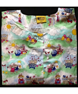 Easter Bunny Scrubs Long Sleeve Scrub Jacket Wi... - $12.99