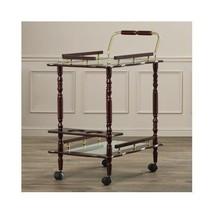 Rolling Bar Cart Vintage Beverage Serving Table... - $98.50