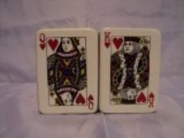 Poker Cards Salt and Pepper Shaker Set - $10.69