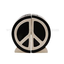 1 X Peace Sign Salt and Pepper Shaker Set: 1960's Icon Home Seasoning De... - $10.57