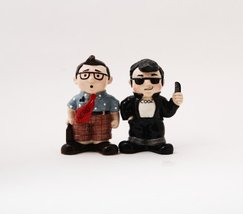 Nerd & Cool Guy Salt and Pepper Shaker Set - Ceramic Collectibles - $10.10