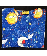 Outer Space Scrubs Jacket With Long Sleeve Blue... - $12.99