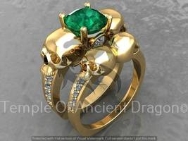 Skull Engagement Ring Set in 10 k with Genuine ... - $1,295.00