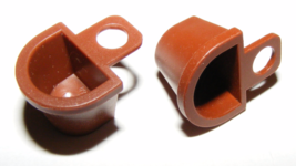LEGO Lot of 2 Brown Container D-Basket Minifig Accessory - $6.00