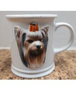 Precious - Yorkshire Terrier Mug  3-D Ceramic Yorkie Lover Dog Coffee Cup - $11.69