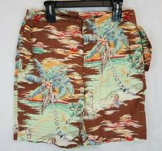 Polo Ralph Lauren Surf Palm Tree Hula Hawaiian Swim Board Shorts Trunks 34 36 - $32.53