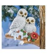Winter Owl Pair Figure Outdoor Tree Statue (col) J8 - $128.69