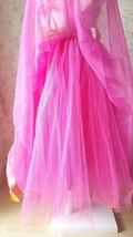 Fuchsia and Golden Tulle Long skirt Tulle Mesh Princess Skirt, Ballet Skirt NWT image 5