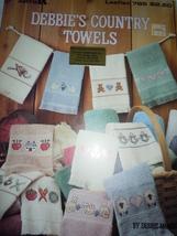 Leisure Arts Debbie's Country Towels Cross Stitch Pattern Leaflet 785 - $3.99