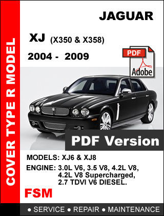 2004 2005 2006 2007 2008 2009 JAGUAR XJ XJ8 XJR FACTORY SERVICE REPAIR MANUAL