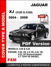 2004 2005 2006 2007 2008 2009 JAGUAR XJ XJ8 XJR FACTORY SERVICE REPAIR M... - $14.95