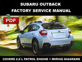 Subaru 2013   2014 Xv Crosstrek 2.0 L (H4 Do) Factory Service Repair Fsm Manual - $14.95