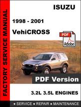 Isuzu Vehicross 1998   2001 Factory Oem Service Repair Workshop Fsm Manual - $14.95