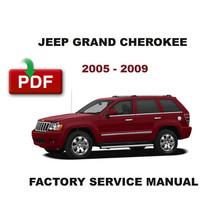 Jeep Grand Cherokee 2005   2010 Oem Factory Service Repair Workshop Fsm Manual - $14.95