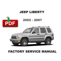 JEEP LIBERTY 2002 - 2007 OEM FACTORY SERVICE REPAIR MAINTENANCE SHOP FSM... - $14.95