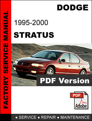dodge stratus 1995 2000 factory oem service repair fsm