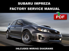 Subaru Impreza Wrx & Sti 2011 Factory Service Repair Workshop Maintenance Manual - $14.95
