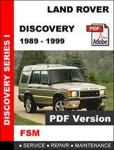 Land Rover Discovery 1989   1999 Factory Oem Service Repair Workshop Fsm Manual - $14.95