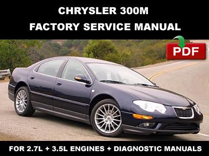 chrysler 300m 1999 2004 factory service repair manual. Black Bedroom Furniture Sets. Home Design Ideas