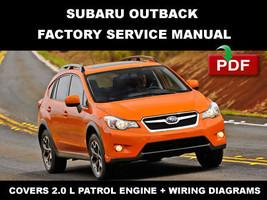 2013   2014 Subaru Xv Crosstrek 2.0 L Engine ( H4 Do ) Service Repair Fsm Manual - $14.95