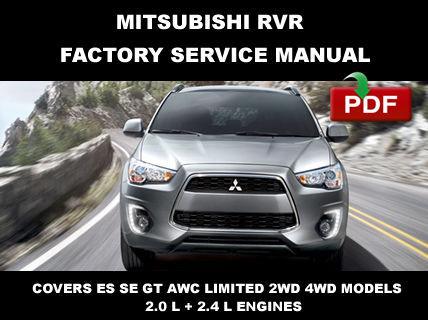 2013 2014 2015 MITSUBISHI RVR FACTORY SERVICE REPAIR ...