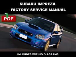 Subaru Impreza Wrx & Sti 2005 Factory Service Repair Workshop Maintenance Manual - $14.95