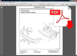 Subaru Legacy 1995   1999 Service Repair Workshop Fsm Manual + Wiring Diagram - $14.95