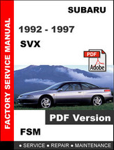 Subaru Svx 1992   1997 Oem Factory Service Repair Fsm Manual + Wiring Diagram - $14.95
