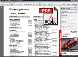Mazda Bt 50 Bt50 2010 2011 2012 2013 Service Repair Fsm Manual + Wiring Diagrams - $14.95